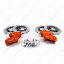 Комплект тормозной системы Agency Power для Can-Am Maverick X3 (Оранжевый) (усиленные суппорта+ вентилируемые диски)