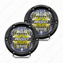 """Фары ближнего света RIGID 360 series 4"""", белая подсветка"""