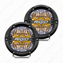 """Фары ближнего света RIGID 360 series 4"""", янтарная подсветка"""