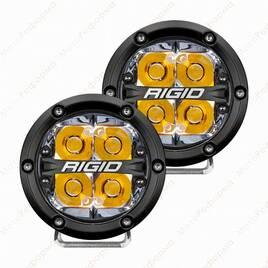 "Фары дальнего света RIGID 360 series 4"", янтарная подсветка"