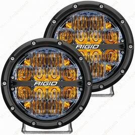 """Фары ближнего света RIGID 360 series 6"""", янтарная подсветка"""