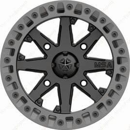 M31-05737 MSA M31 LOK2 Satin Black Matte Gray Ring  R15x7  4x137  диск колесный с бедлоком для квадроциклов BRP Can-Am