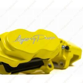 Комплект тормозной системы Agency Power для Can-Am Maverick X3 (красный) (усиленные суппорта+ вентилируемые диски)