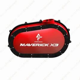 Кастомная прозрачная крышка вариатора с подсветкой для Can-Am Maverick X3 (Red)