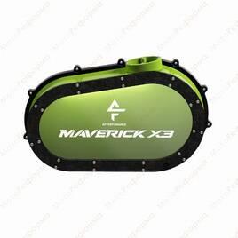 Кастомная прозрачная крышка вариатора с подсветкой для Can-Am Maverick X3 (manta green)