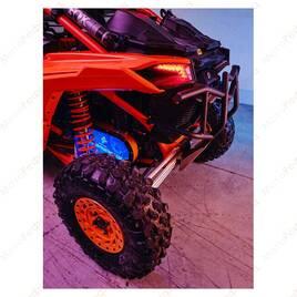Кастомная прозрачная крышка вариатора с подсветкой для Can-Am Maverick X3 (Orange)