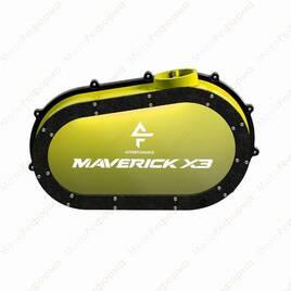 Кастомная прозрачная крышка вариатора с подсветкой для Can-Am Maverick X3 (Yellow)
