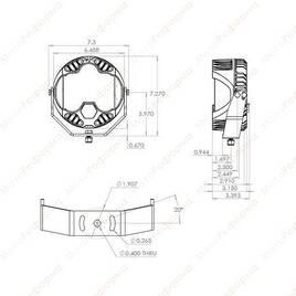 Светодиодная фара 6  Baja Design LP6 Pro Driving Combo  (белый свет)
