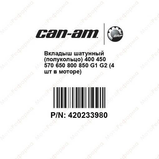 Вкладыш шатунный BRP 420233980