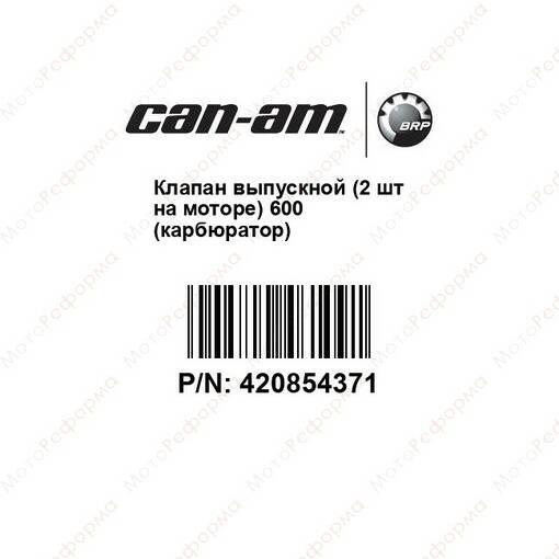 Клапан выпускной (2 шт на моторе) 600 (карбюратор)
